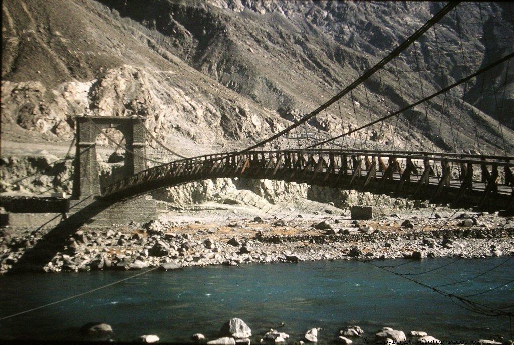 Hängebrücke im Industal