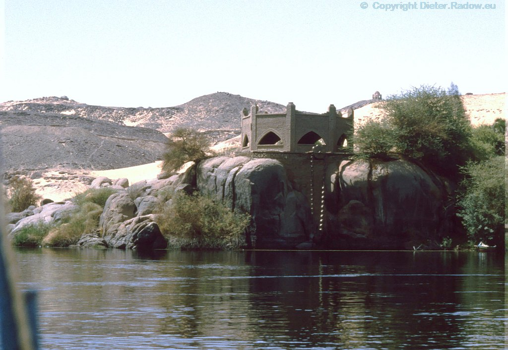Ägypten Assuan 1984  - Nilometer