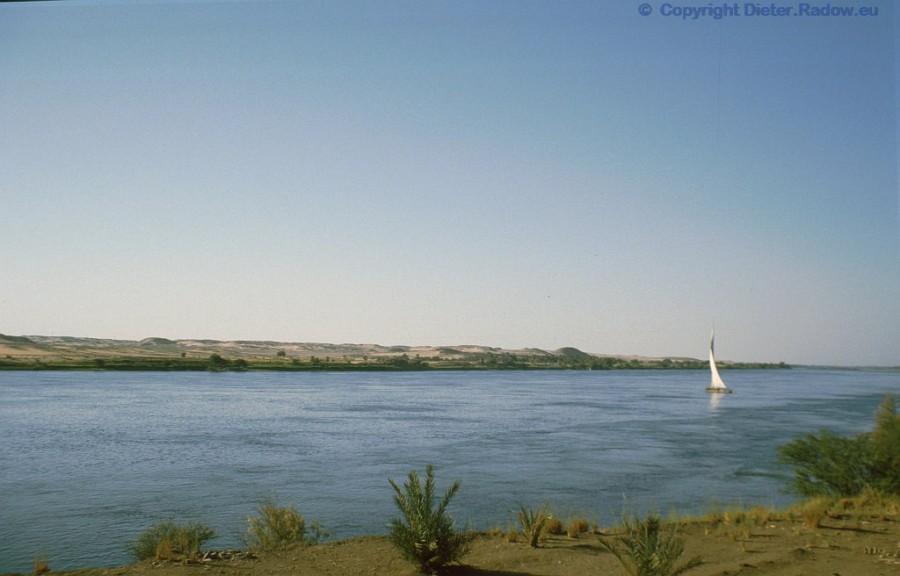 Ägypten Nil unterhalb Assua