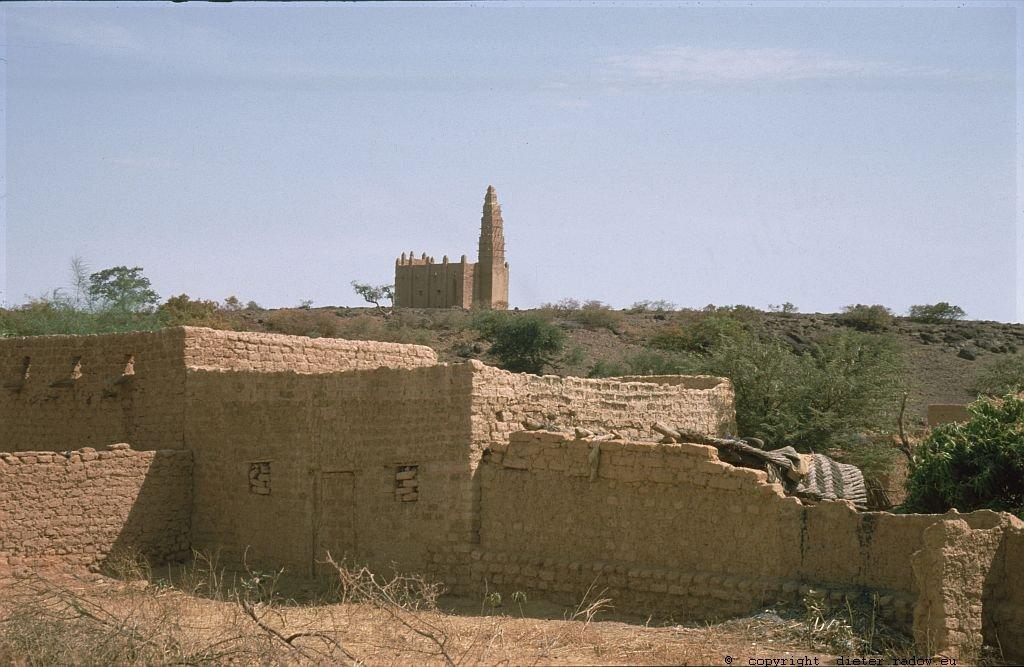 107 Burkina Faso Dorf mit Mosche und Minarett4