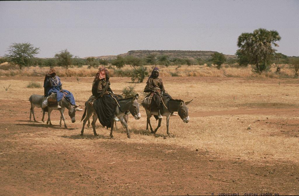122 Burkina Faso Gorom Gorom Frauen reiten zum Markt 74