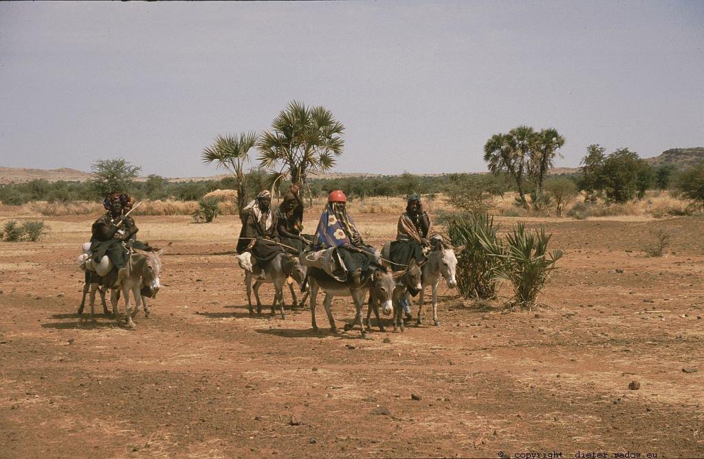 125 Burkina Faso Gorom Gorom Frauen reiten zum Markt 75