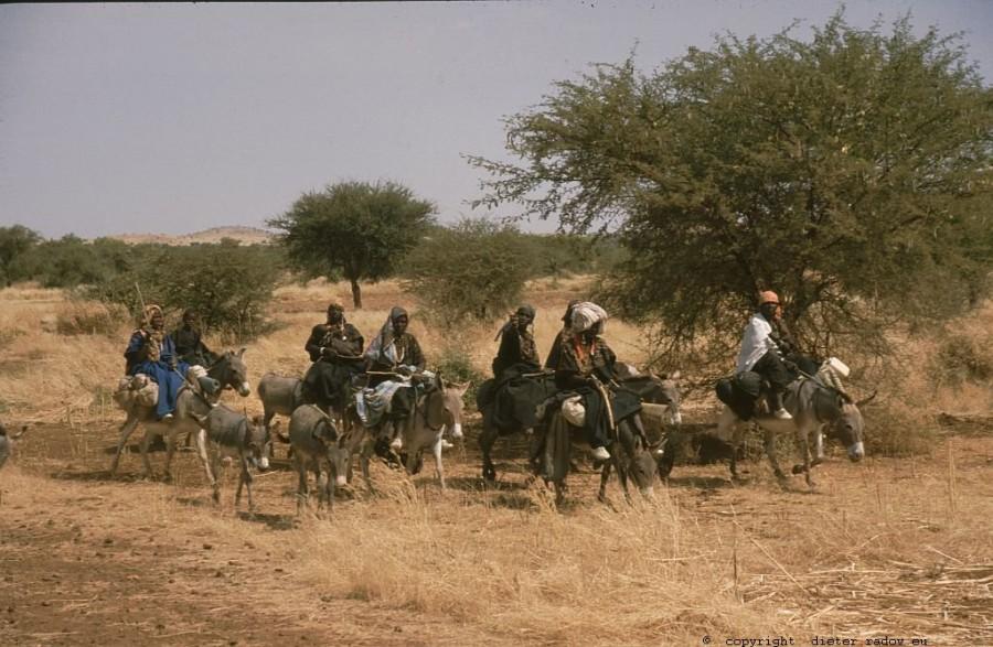 131 Burkina Faso Gorom Gorom Frauen reiten zum Markt 78