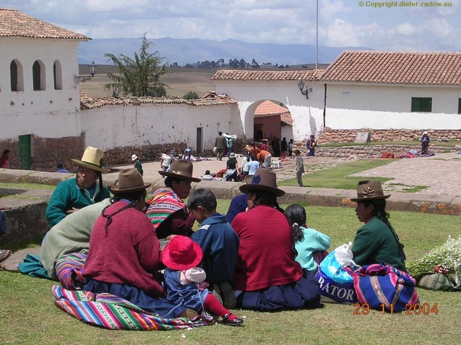 Chinchero (Region Apurimac, 3760 m hoch) zwischen Cuzco und Urubamba