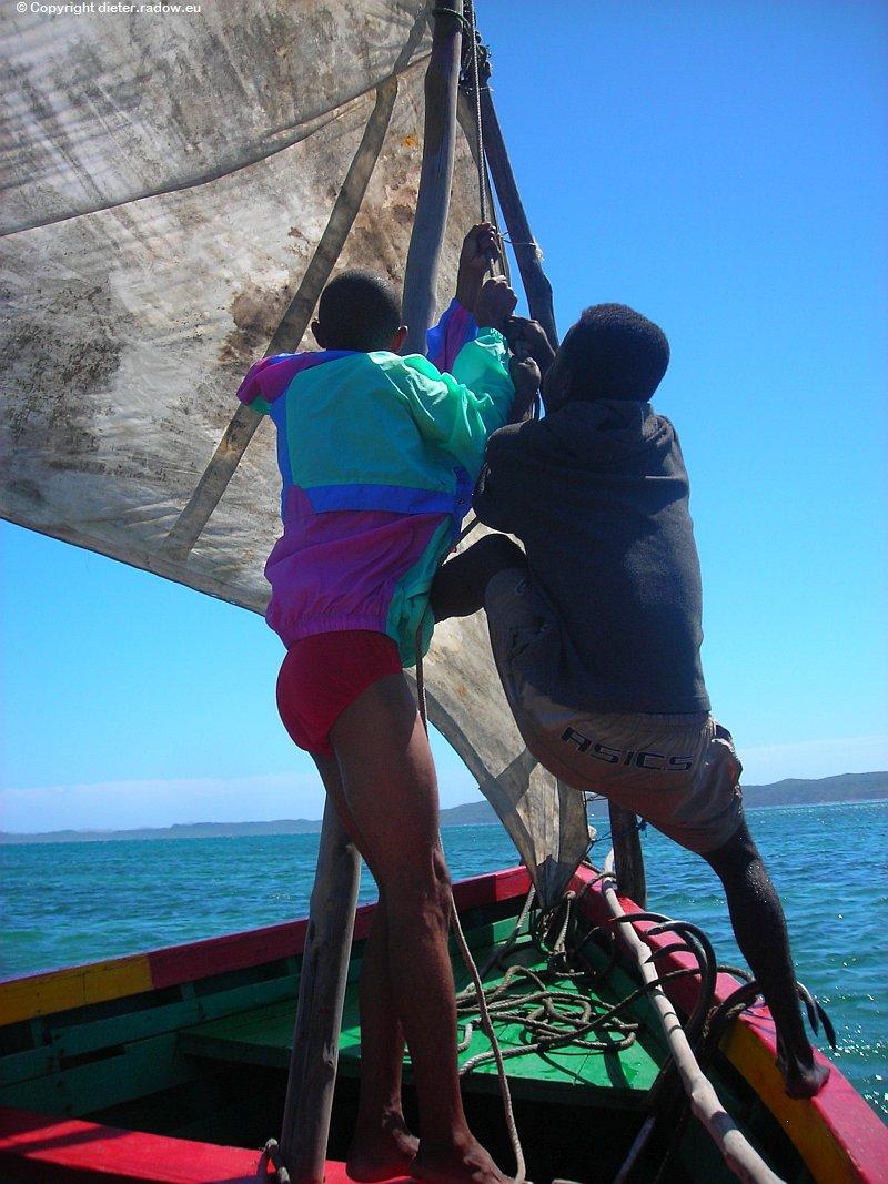 Auf hoher See im Indischen Ozean