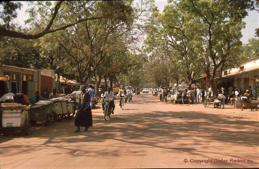 Ouagadougou 1996  -  Geschäftszentrum der Hauptstadt