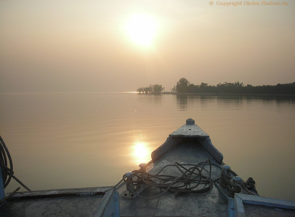 Bangladesh  Abendstimmung am Golf von Bengalen