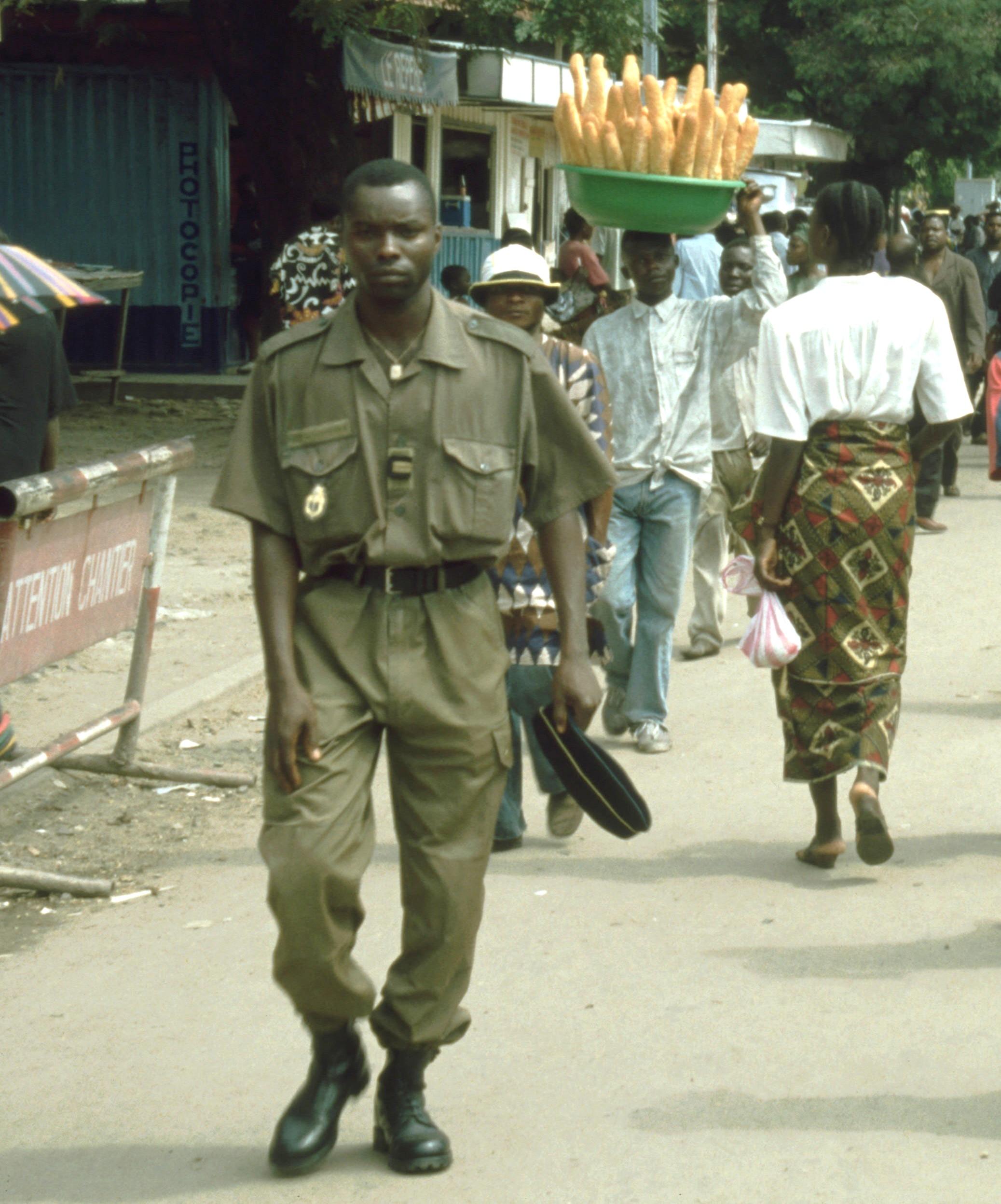 Brazavile Soldat der Armee