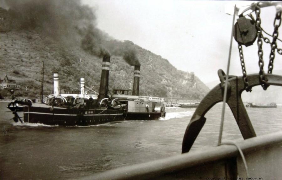 DS H-Rhein bei Loreley 1949