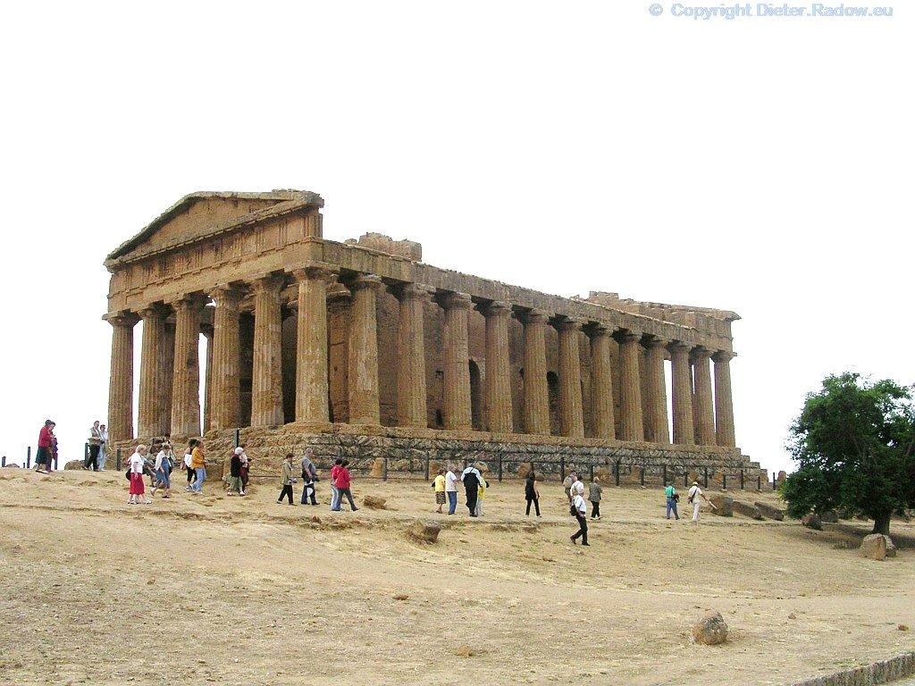 Italien - Sizilien - Arigent  griechischer Concordia-Tempel