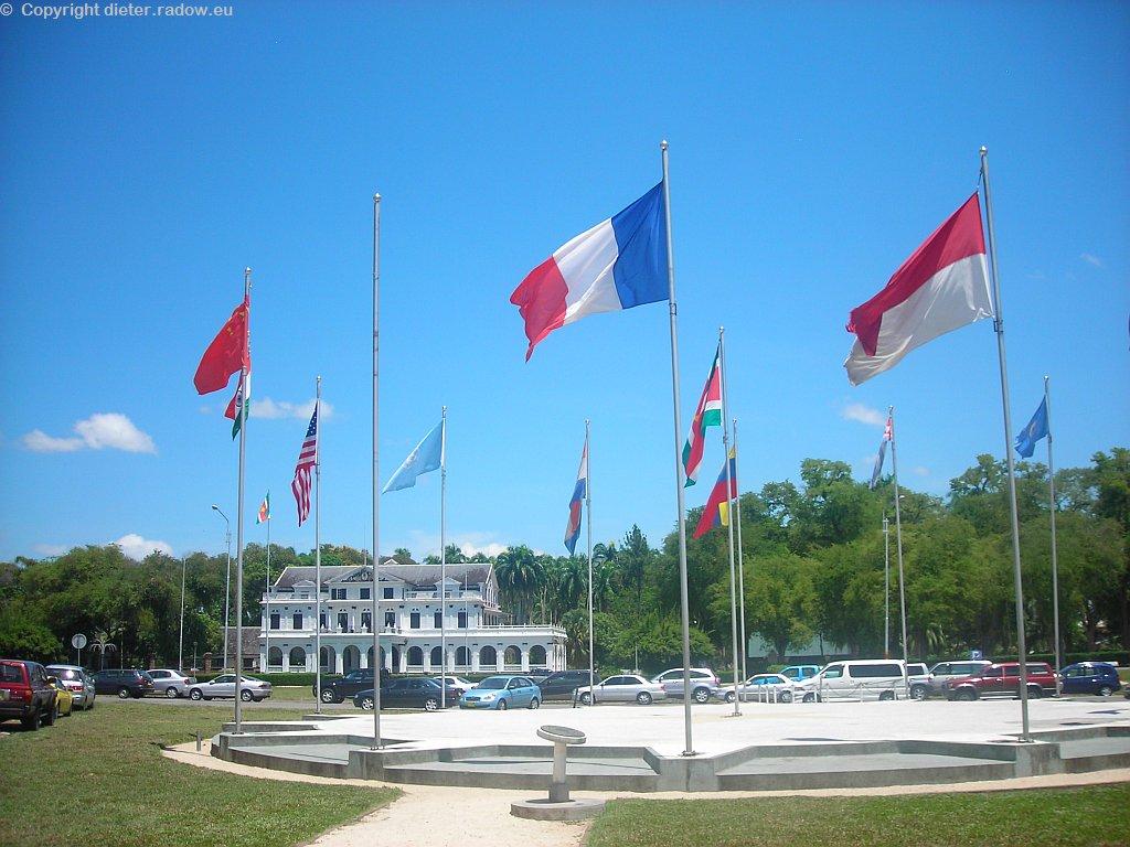 Surinam 2008: Paramaribo: Regierungspalast aus der holländischen Kolonialzeit
