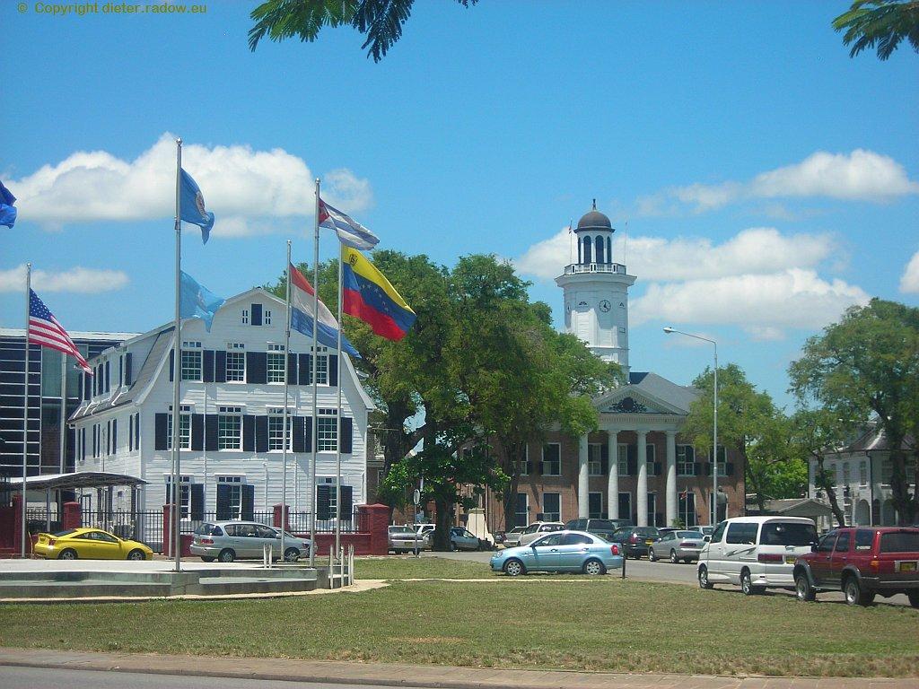 Surinam 2008: Paramaribo: holländische Kolonialbauten