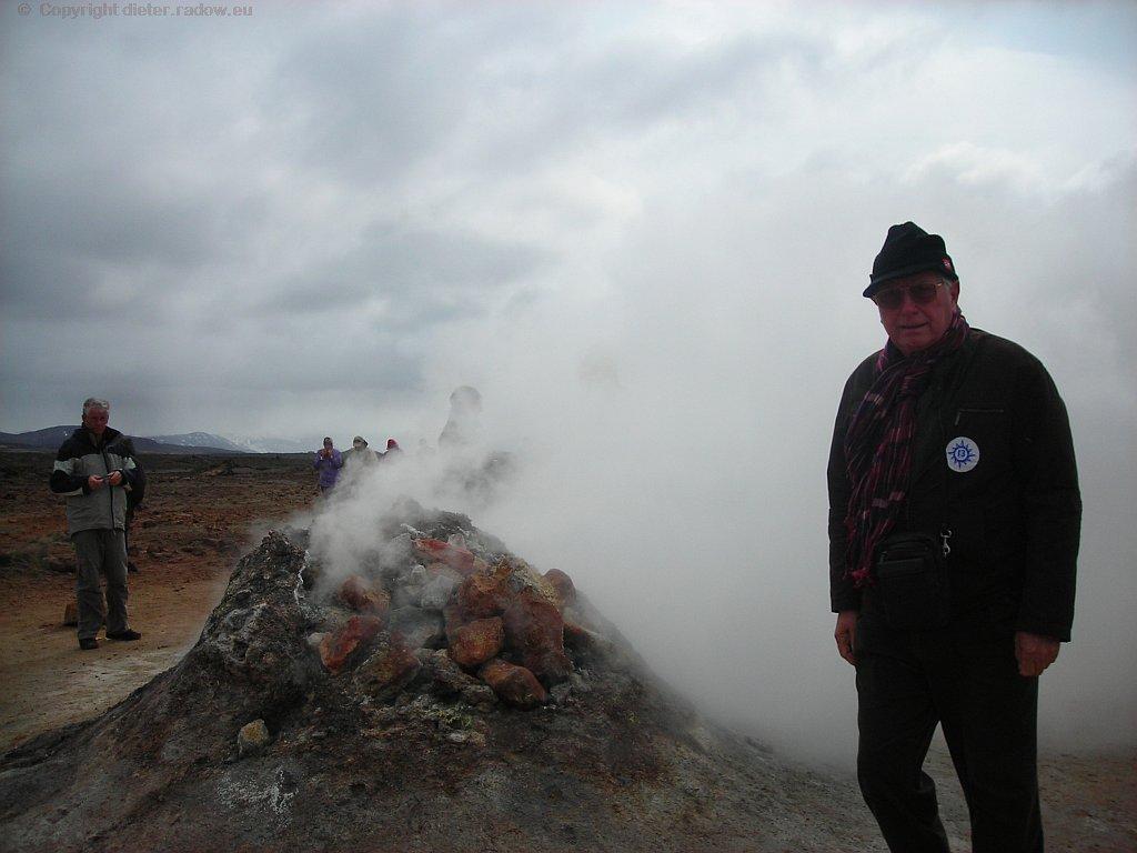 Island Dampf Geysir