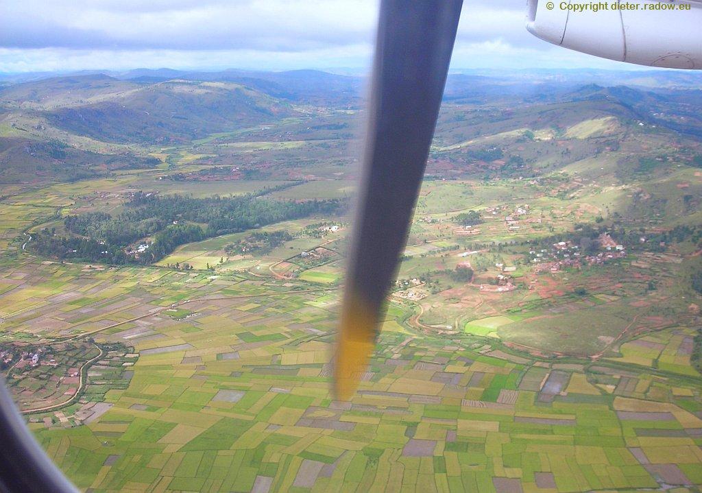 Hochland in der Mitte von Madagaskar