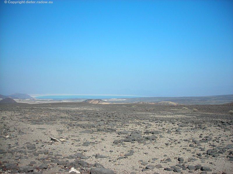 Djibouti Steinwüste am Lac