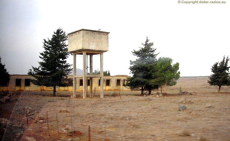 Golan - syrische Armee-Anlage