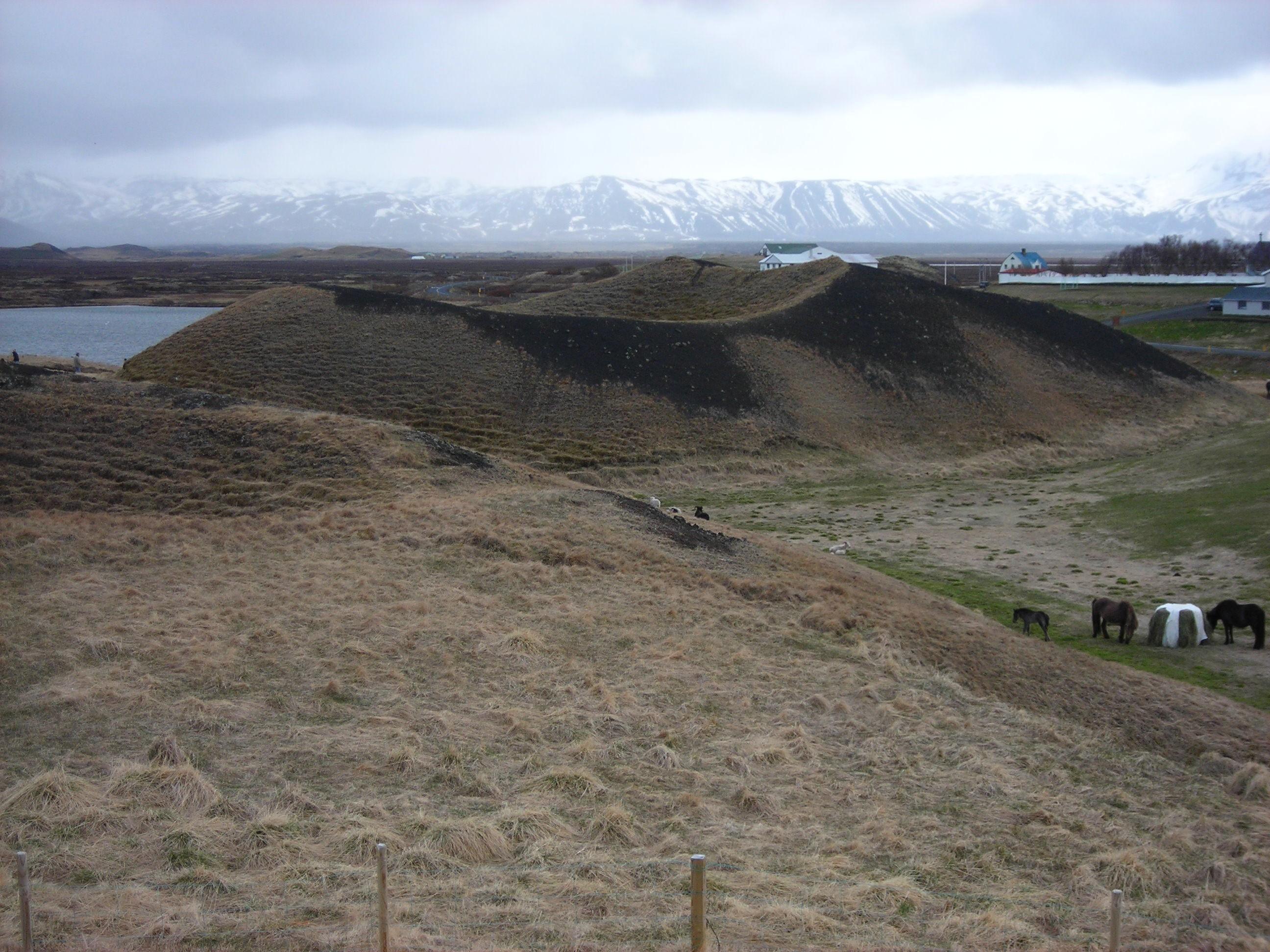 Island 2011 Rand eines Minivulkans
