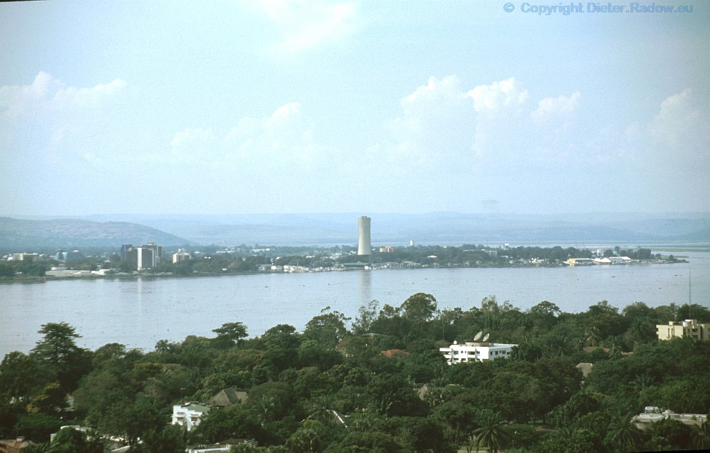 KongoBlick über den Fluß von Brazzavile nach Kinshasa