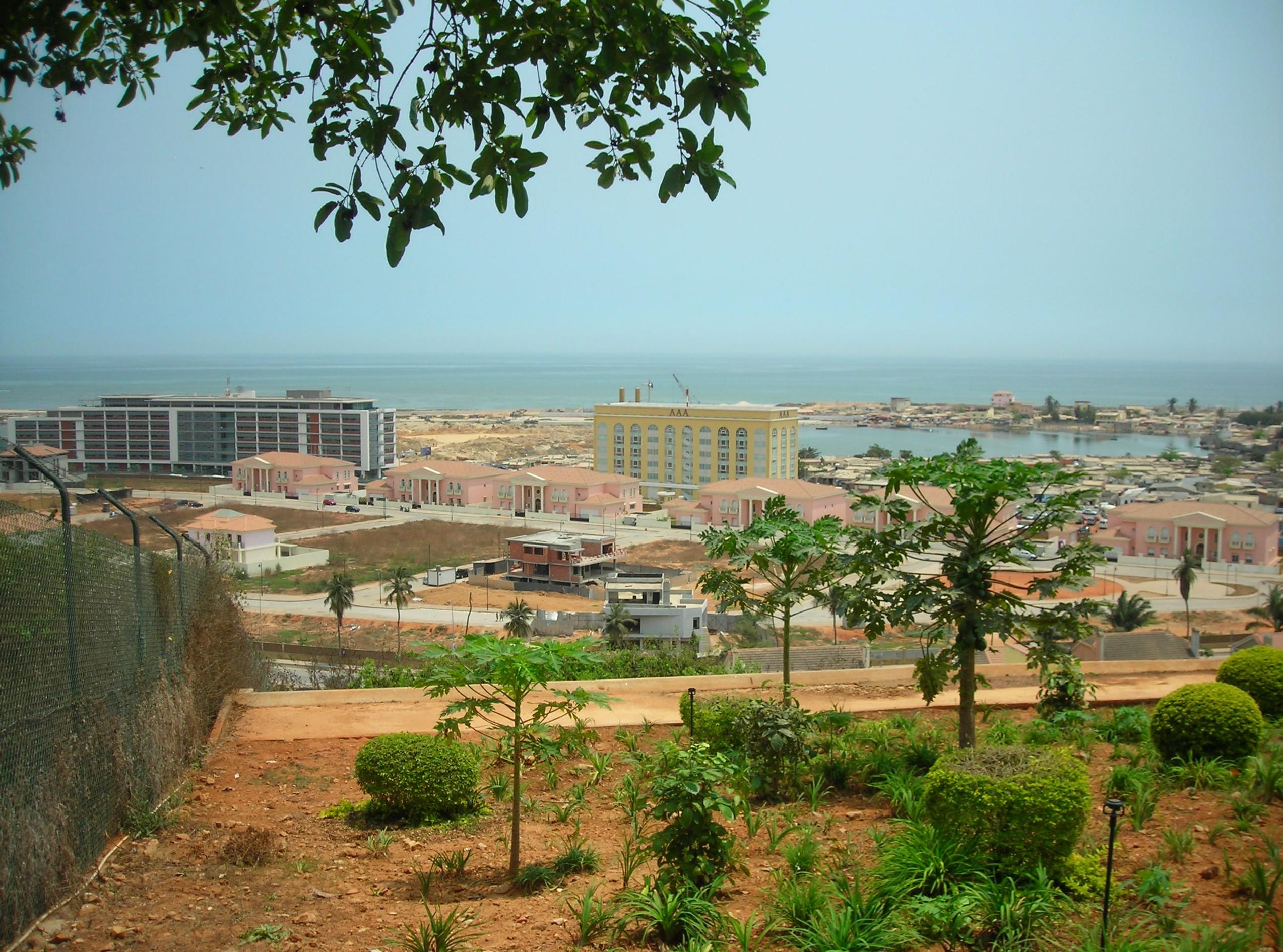 Luanda Landgewinnung an der corniche