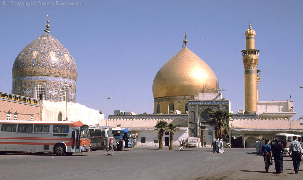 Iraq Samarra 1995  -  entrance of the Golden Mosque