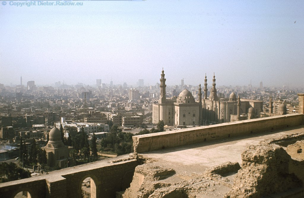 Egypt Cairo 1984  -  view from the Citadel