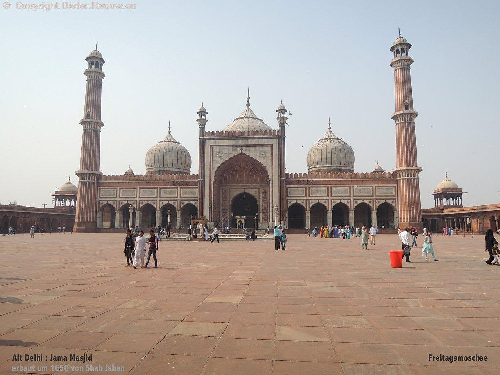 Indien Delhi Freitagsmoschee