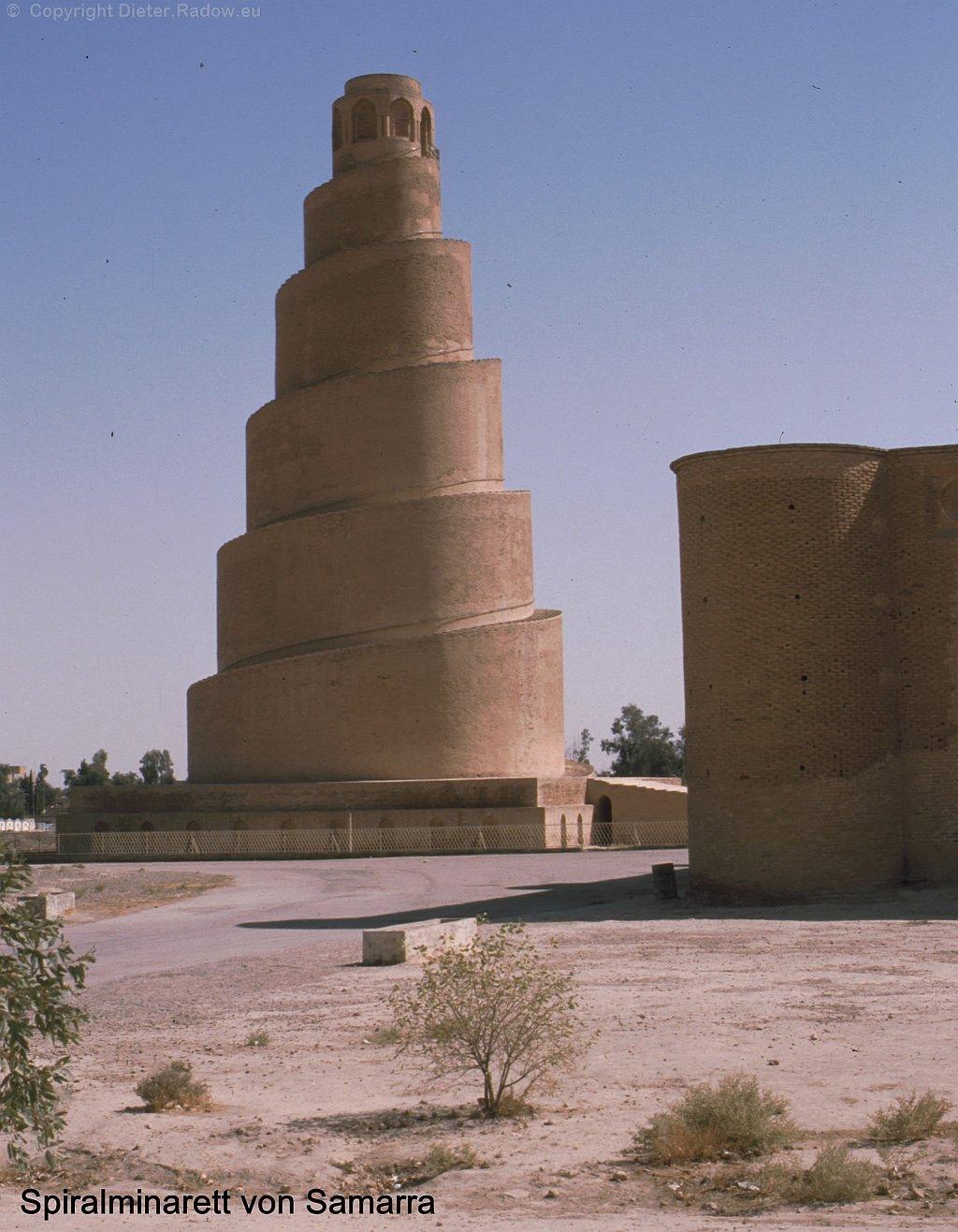 Irak 1999 Samarra   Spiral Minarett