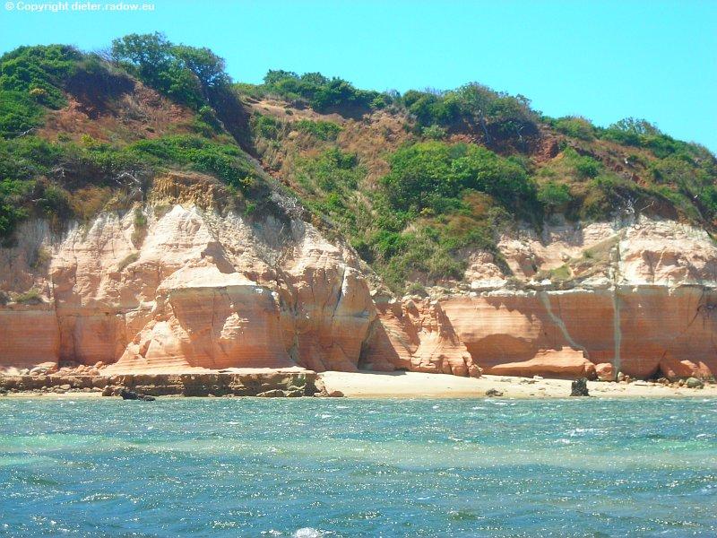 Malerische Küste zum Indischen Ozean