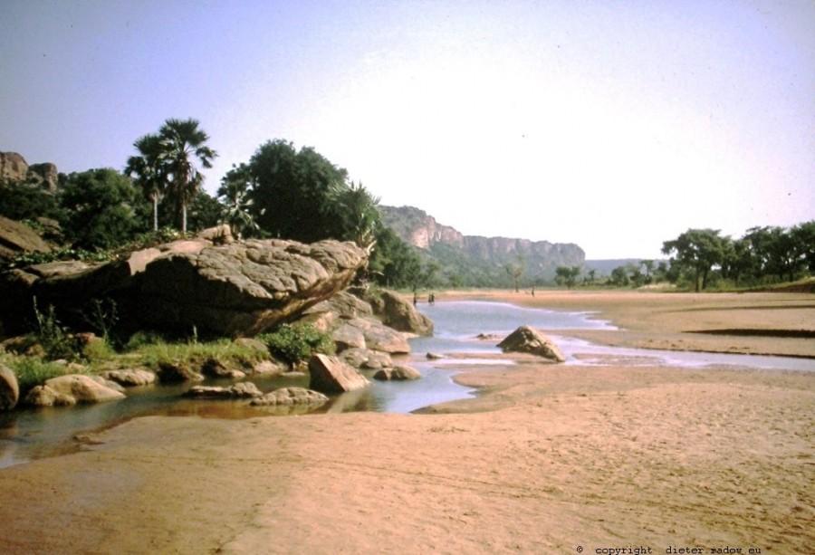 Mali Bandiagara Fluß Yame8 f
