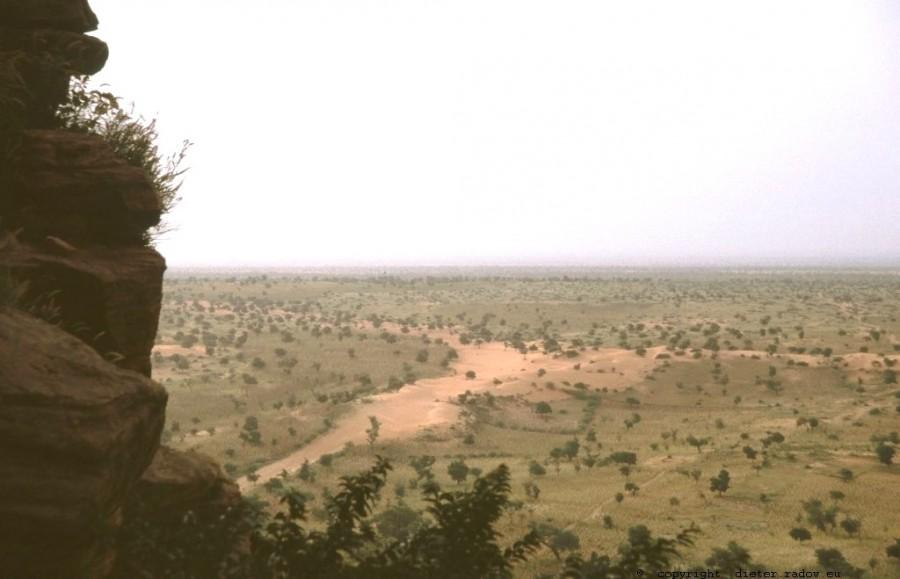 Mali Blick vom oberen Rand der Failaisse in die Sahelniederung