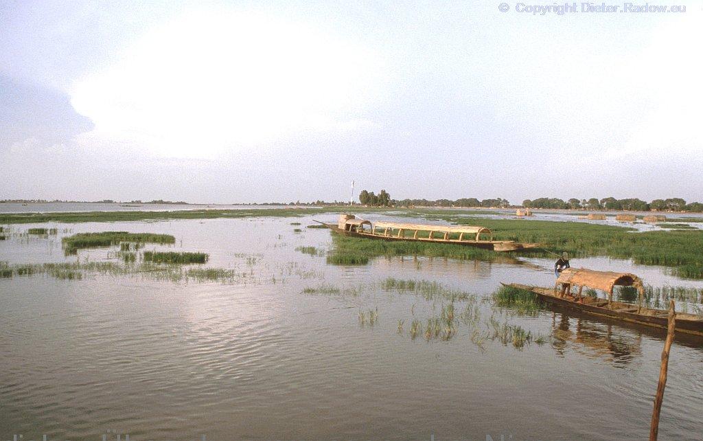 Mali Niger bei Niger-Überschwemmung bei Mopti