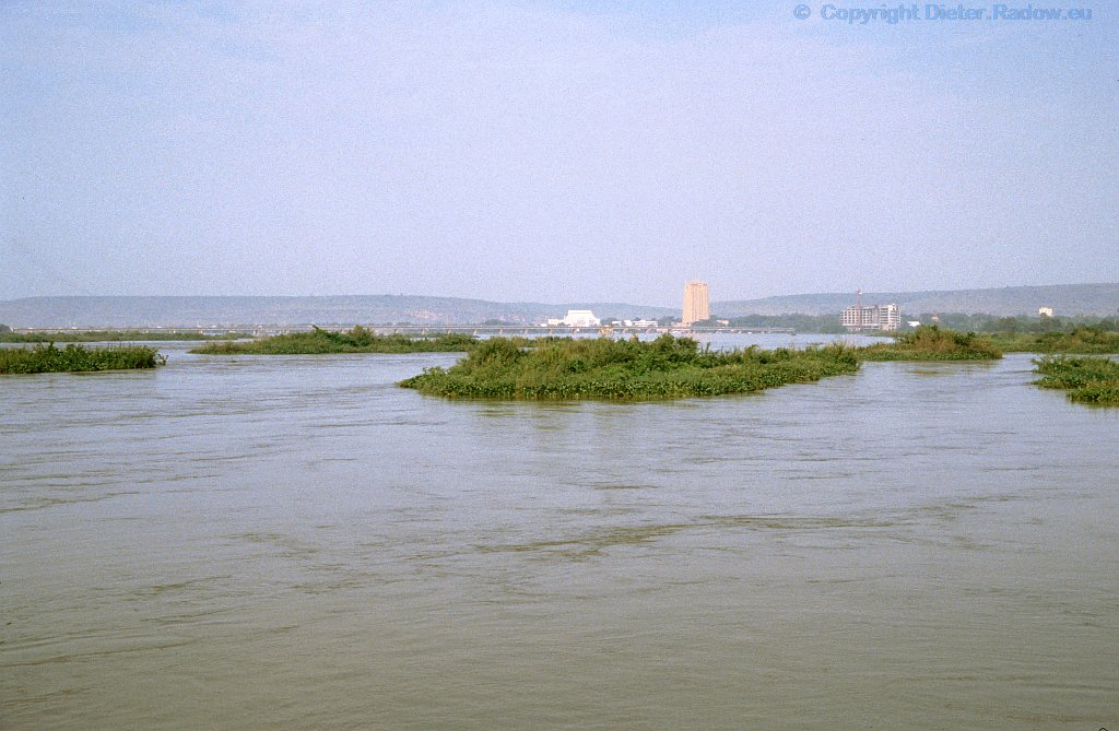Mali Niger und die Stadt Bamako vom Hotel