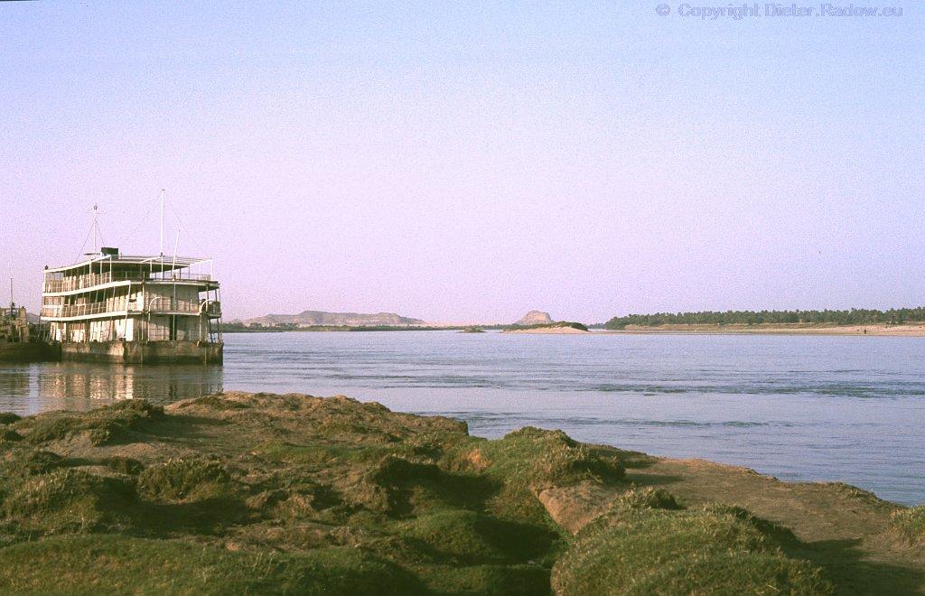 Sudan Nil bei Merowe unterhalb des 2. Katarakts