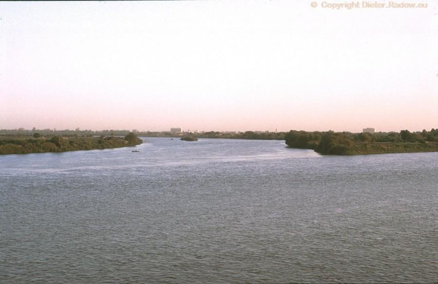 Sudan b Kartum Zusammenfluß Blauer und Weißer Nil
