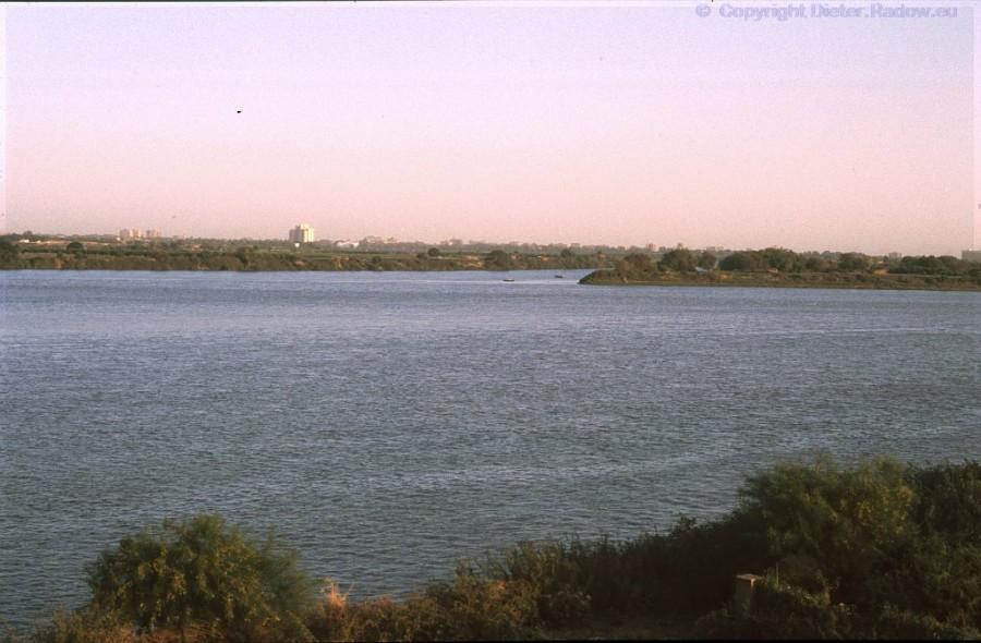 Sudan b Kartum Zusammenfluß von Weißem und Blauen Nil