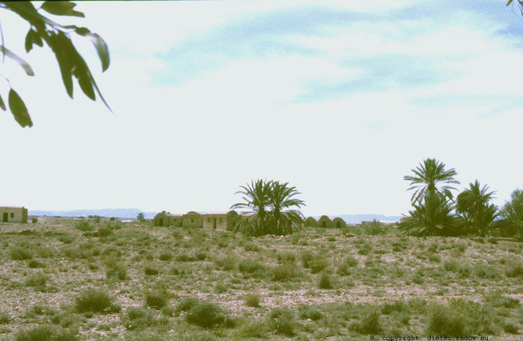 Tunesien Dorf in der Halbwüste