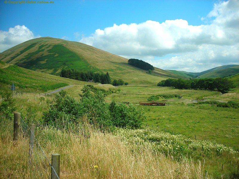 Wiesen im schottischen Hochland