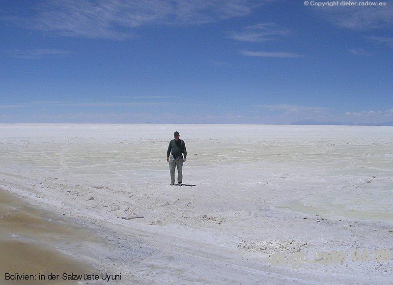 Z Bolivien Salzwüste Uyunu