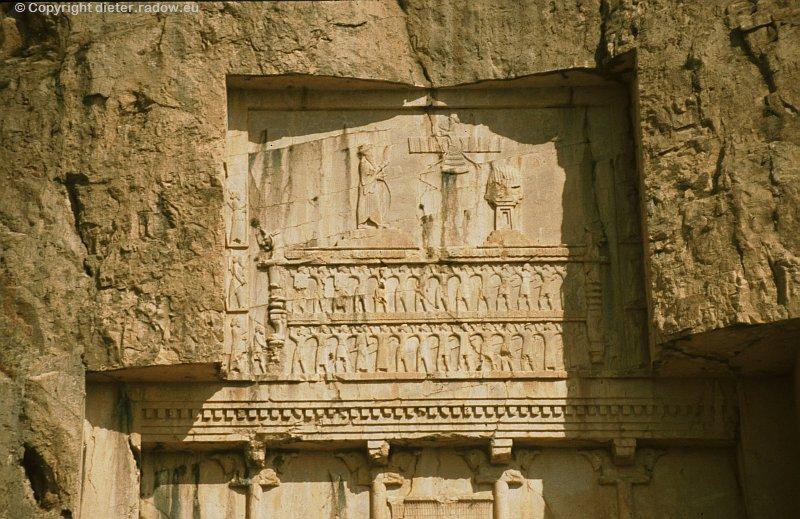 Iran Naqsh-e Rostam achämenidisches Königsgrab Detail