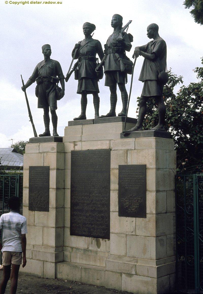 Kenia Denkmal für die gefallenen Hilfstruppen der Engländer 1914-1918