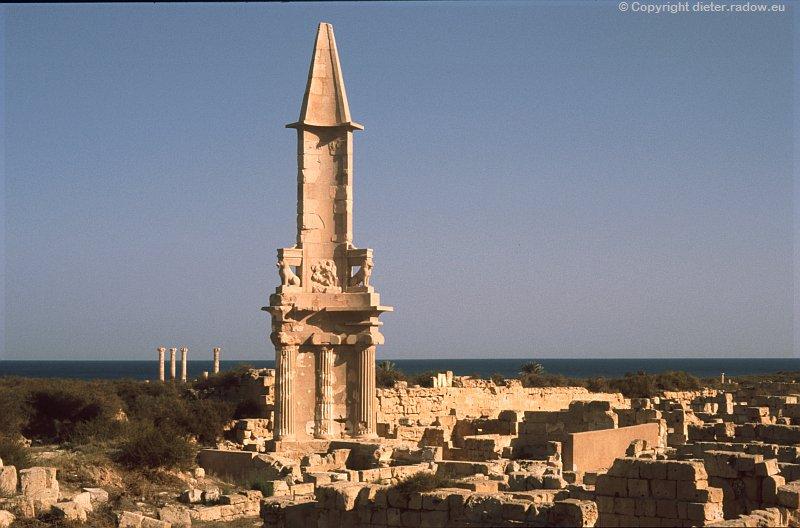 Libyen Sabratha phönizische Grab-Stele