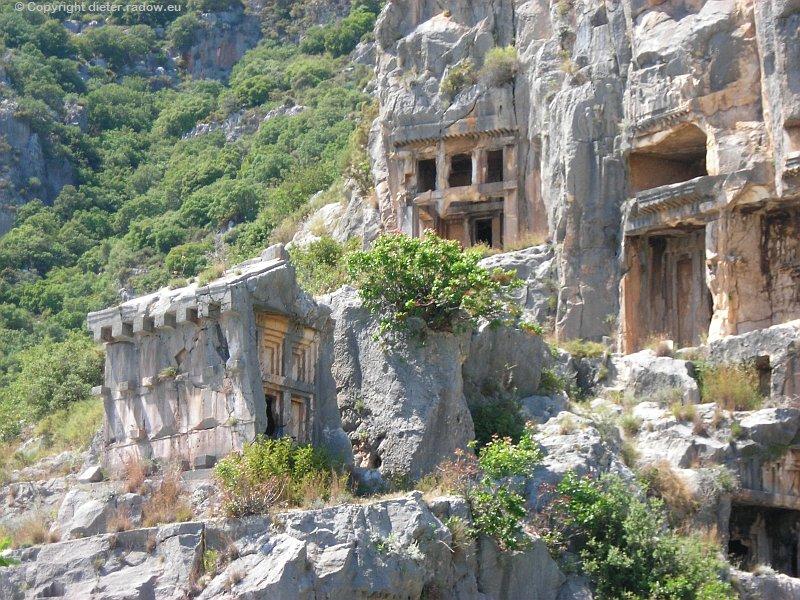 Türkei Felsgräber bei Myra