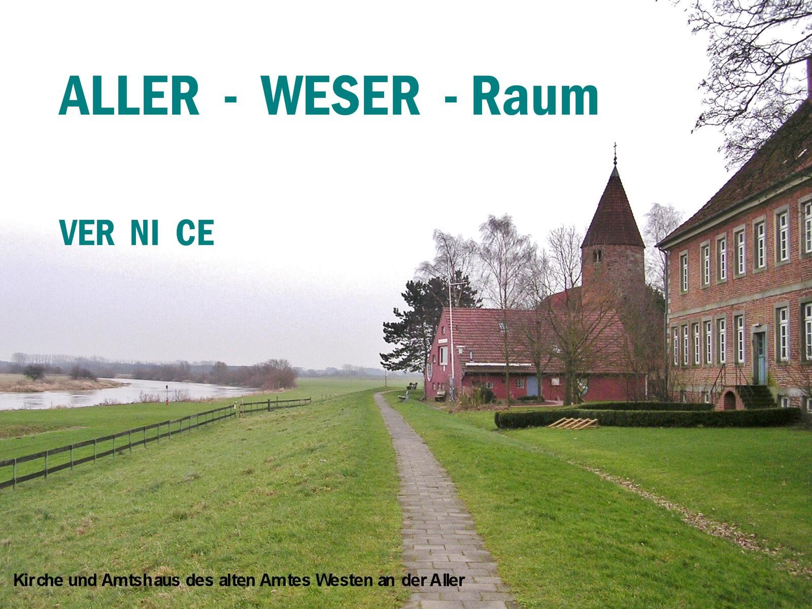Kirche und Amtshaus des alten Amtes Westen an der Aller